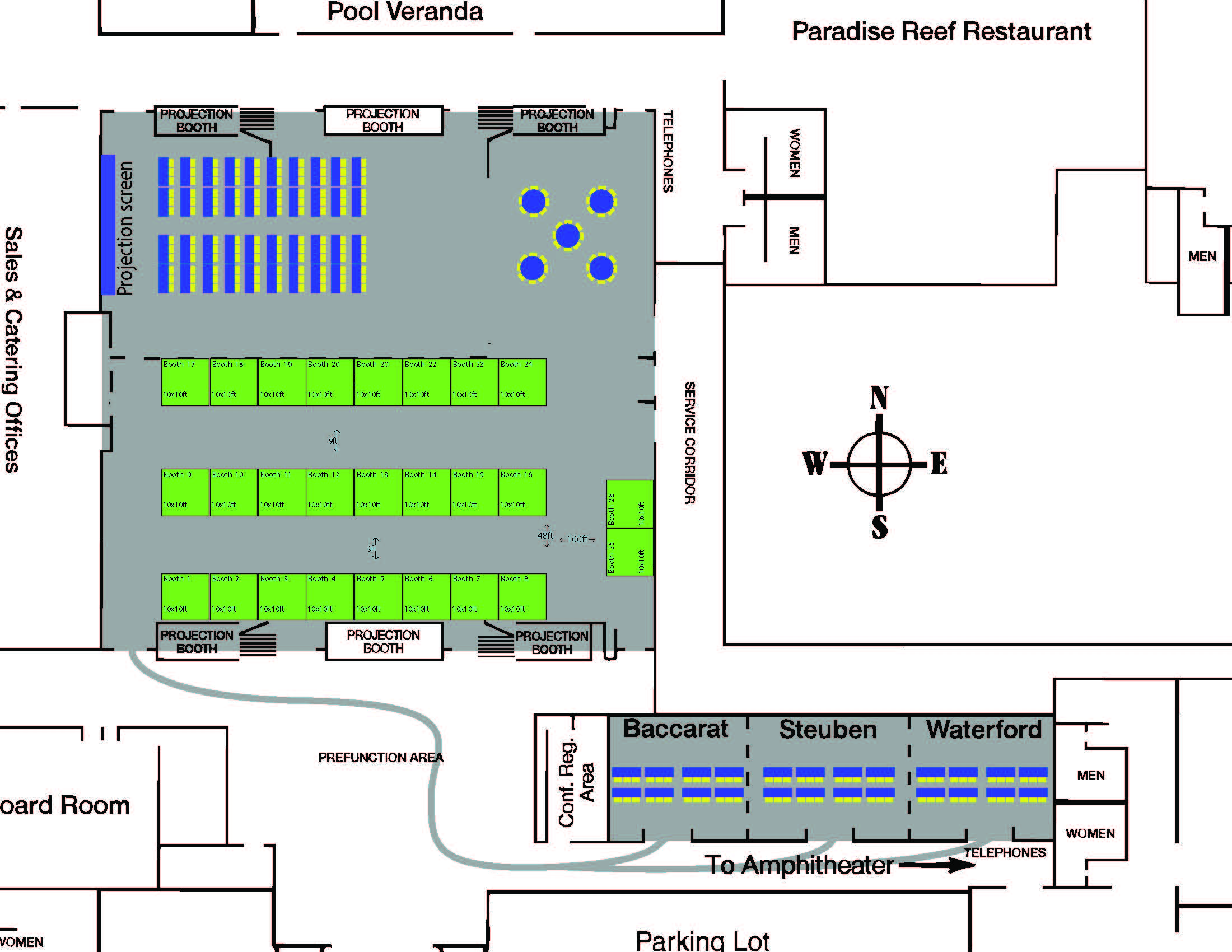 UAMCC Convention Floor Plan