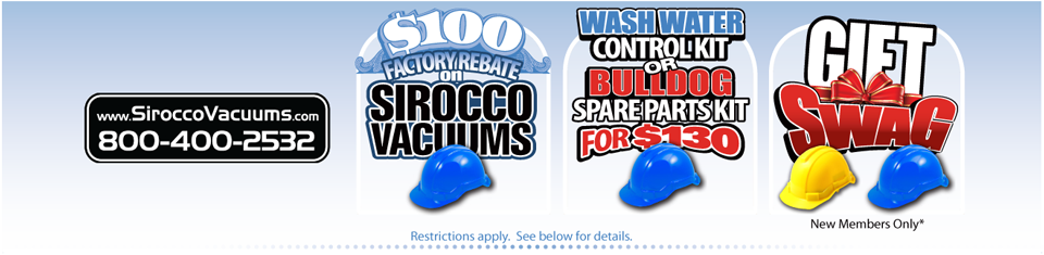 Sirroco Vacuums Associate Member Benefit