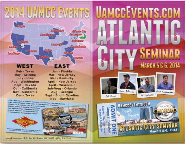 Atlantic City 2014 Schedule