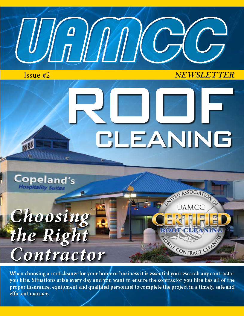 UAMCC.org Newsletter Issue #1 - Roof Cleaning